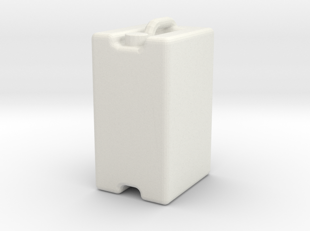 Jerrycan 25L 1/32 in White Strong & Flexible