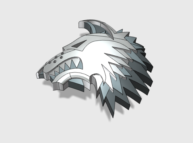 60x Shaggy Wolf : Left Shoulder Insignia pack