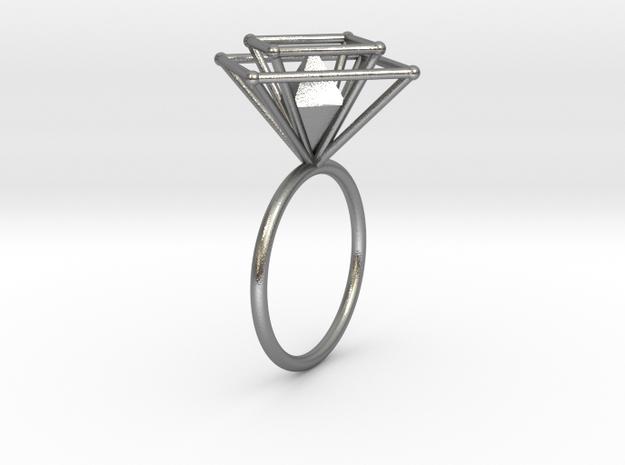 Crazy diamond 58 in Natural Silver