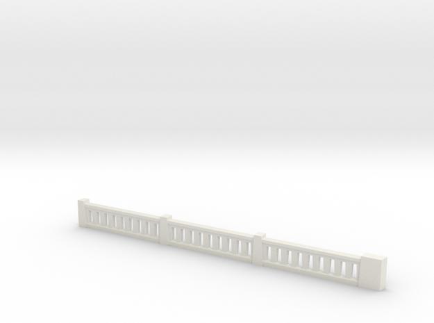 Top Corner Rail 1-64 in White Strong & Flexible