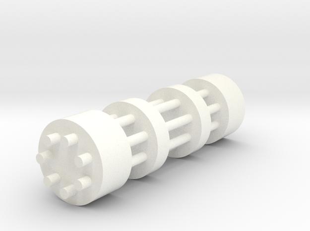 Gatling Gun in White Strong & Flexible Polished