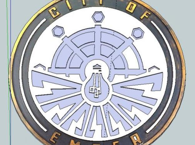 City of Ember Emblem 3d printed Description