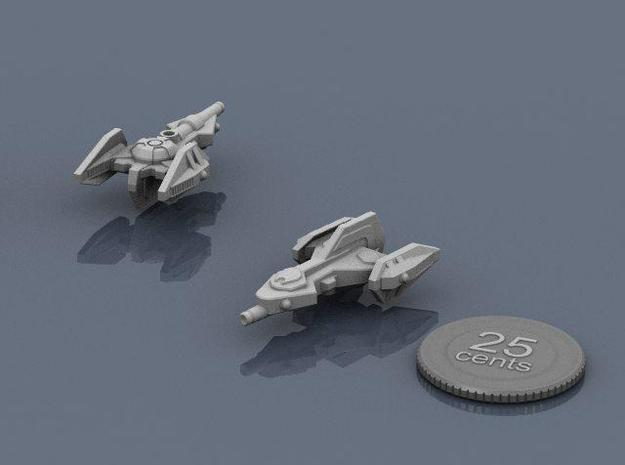 Rukk Scout 3d printed Renders of the model, with a virtual quarter for scale.