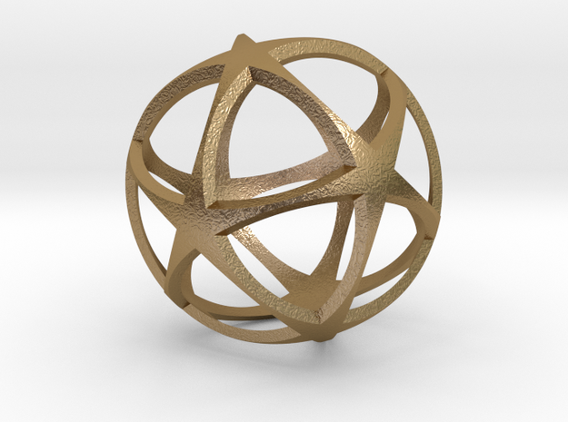 0718 Star Ball (Icosohedron with Stars) 5.0cm #002