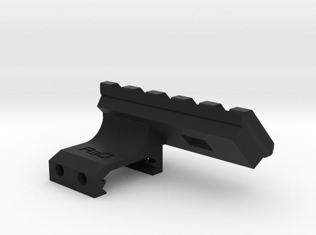 45 Degrees 2 Slots to 5 Slots Picatinny Rail (Offs in Black Natural Versatile Plastic