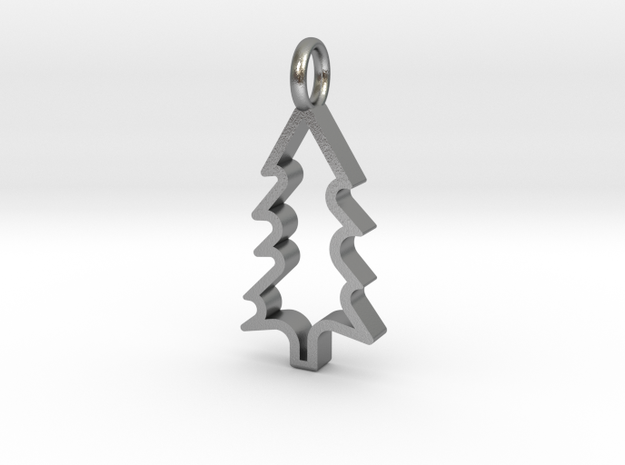 Christmas Tree - Pendant in Natural Silver