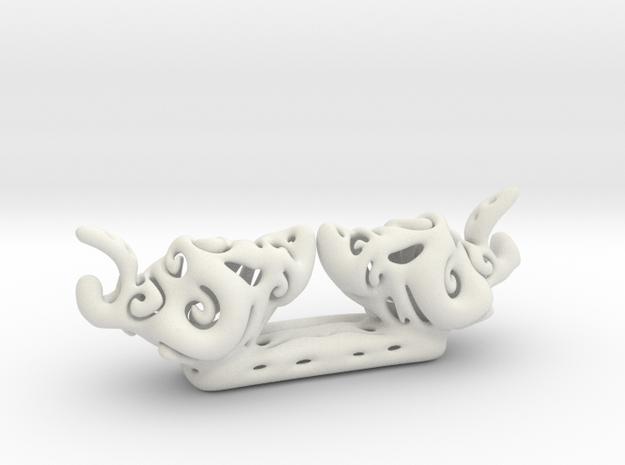 Freeform 2 Birds in White Natural Versatile Plastic