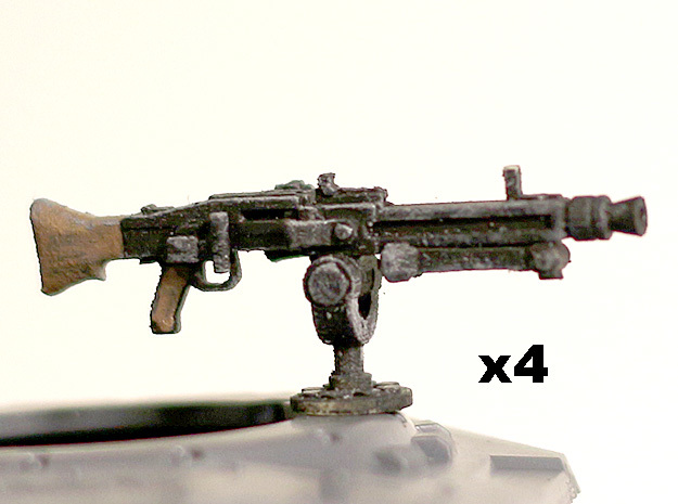 28mm MG42 for tank mount in Smoothest Fine Detail Plastic