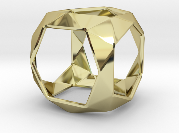 GEO  in 18k Gold Plated Brass: Small