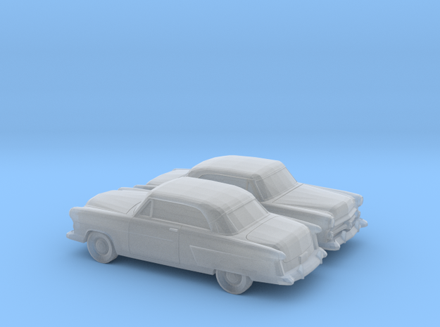 1/160 2X 1952 Ford Crestline Victoria Coupe in Smooth Fine Detail Plastic