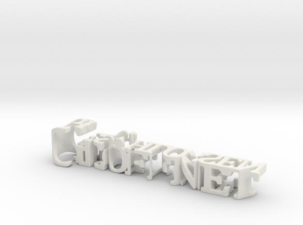 3dWordFlip: Geöffnet/Geschlossen in White Natural Versatile Plastic