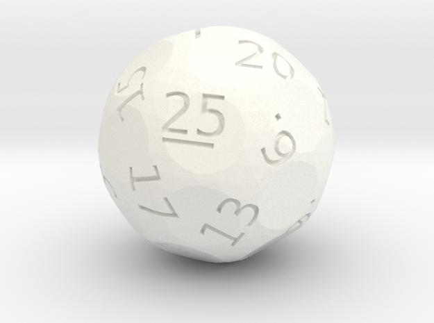 d25 oddball die in White Processed Versatile Plastic