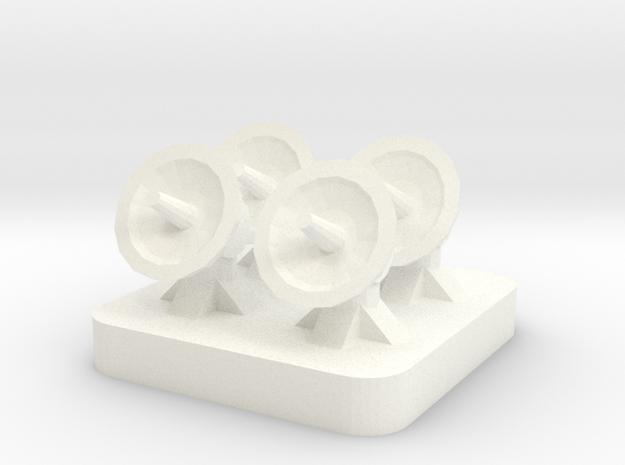 Mini Space Program, Dish Array in White Processed Versatile Plastic