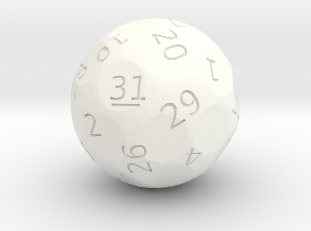 d31 oddball die in White Strong & Flexible Polished