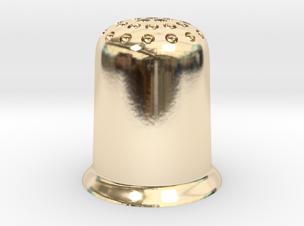 Thimble in 14k Gold Plated Brass