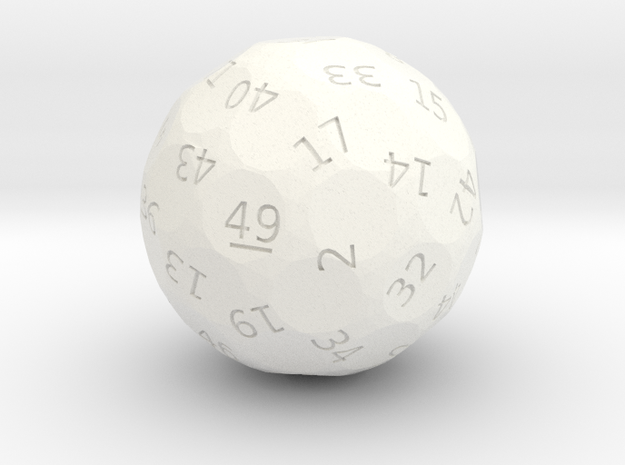 d49 oddball die in White Strong & Flexible Polished