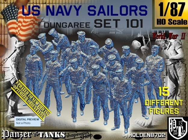 1/87 USN Dungaree Set 101