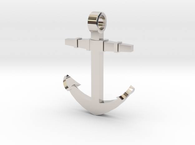 Anchor [pendant] in Rhodium Plated