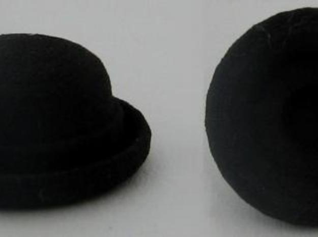 Bowler Hat in Black Natural Versatile Plastic