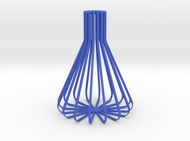 Hollow Erlenmeyer Flask Vase in Blue Processed Versatile Plastic
