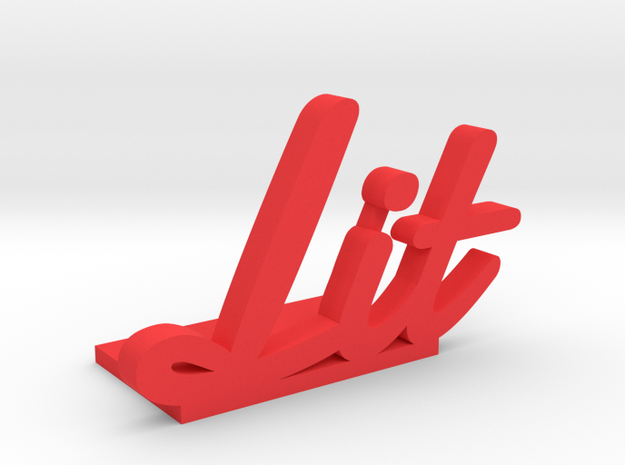 Lit Bookend in Red Processed Versatile Plastic