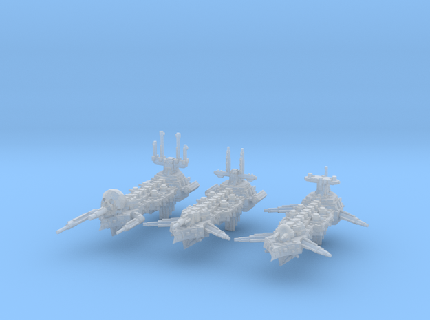 Idolizer Frigates (3) in Smooth Fine Detail Plastic