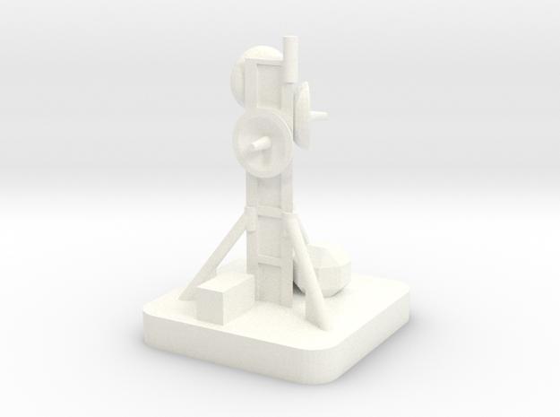Mini Space Program, Comm Tower in White Processed Versatile Plastic