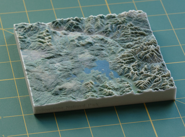Yellowstone National Park, WY/MT/ID, 1:1000000 in Full Color Sandstone