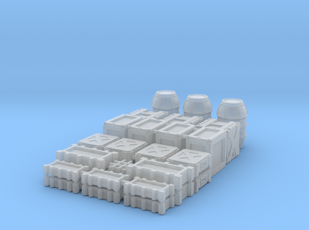 1:72 SW Deluxe Cargo Containers  in Smooth Fine Detail Plastic