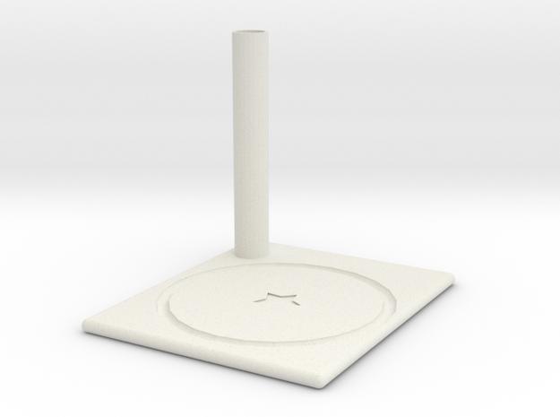 Coaster in White Natural Versatile Plastic: Medium