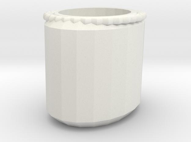 flower pot in White Natural Versatile Plastic: Medium