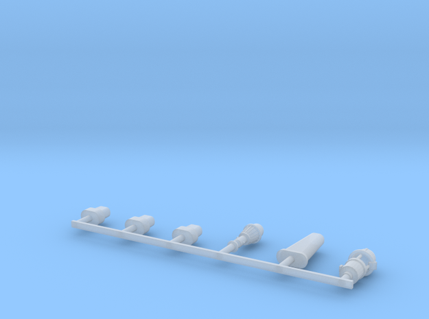 Docking Bay: Posts, 1:72 in Smooth Fine Detail Plastic