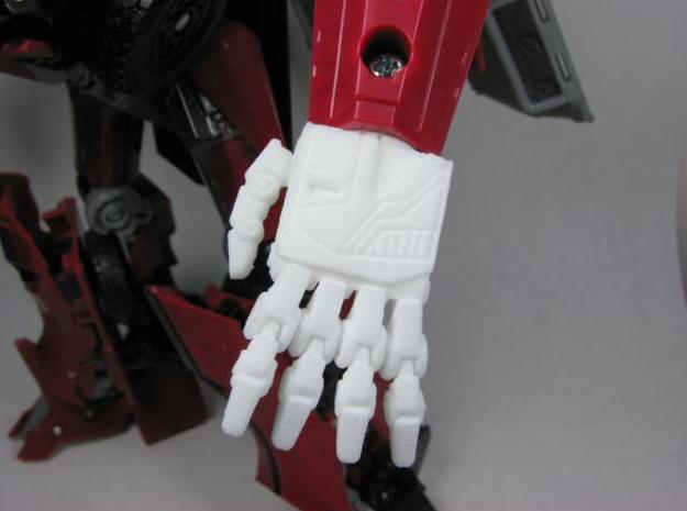 DOTM Leader Sentinel Prime hands (toy accurate) in White Natural Versatile Plastic