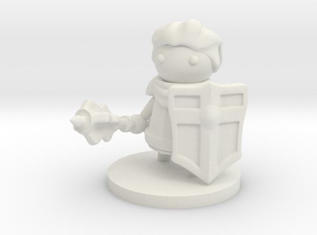 Cleric in White Natural Versatile Plastic