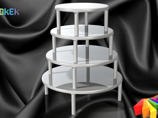 Cake stand S (12cm) 3d printed Stacked on top of each other