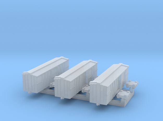 40 ft Boxcar, Wooden, 1/700 in Smooth Fine Detail Plastic