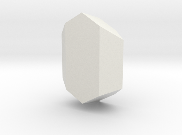Spodumene, 25 mm in White Natural Versatile Plastic