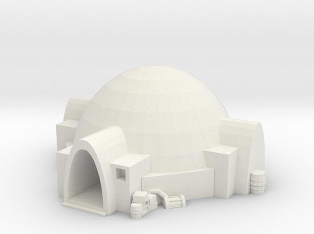 Tatooine Nomad Hut  in White Natural Versatile Plastic