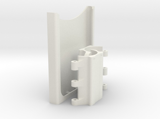 Samsung S6 Edge Plus holder mount to 28mm pole for in White Natural Versatile Plastic