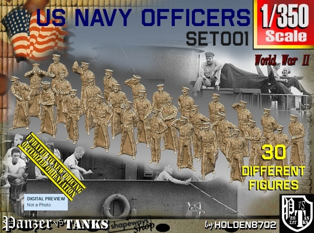 1/350 USN Officers Set001