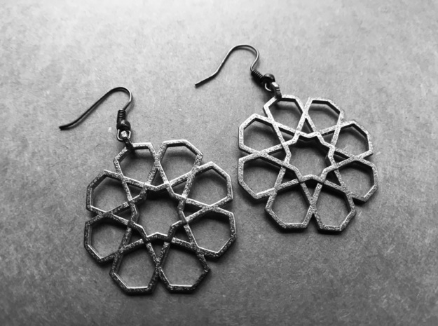 Earrings_Tivoli_steel in Polished Nickel Steel