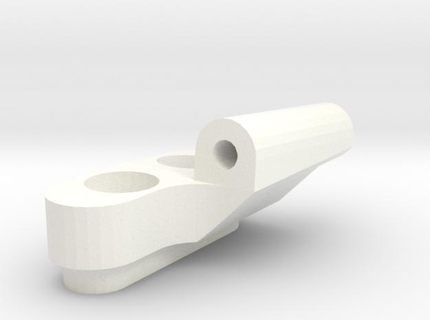 *NEW* - 5 Degree Reactive Left Front Susp Block in White Processed Versatile Plastic