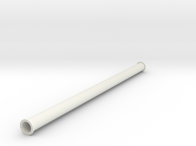 "36"" pipe with flanges  in White Natural Versatile Plastic"