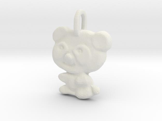 Panda Pendant in White Premium Versatile Plastic