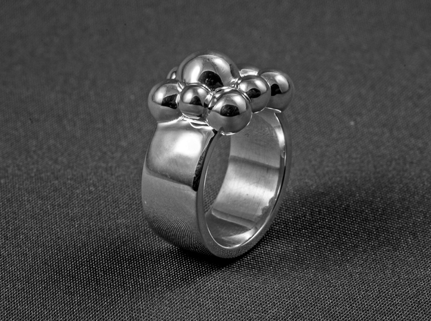 Spheres CC in Polished Silver