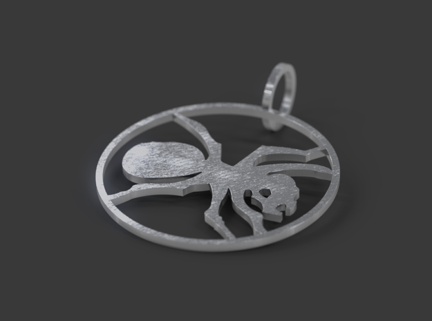 The Prodigy ant in Natural Silver
