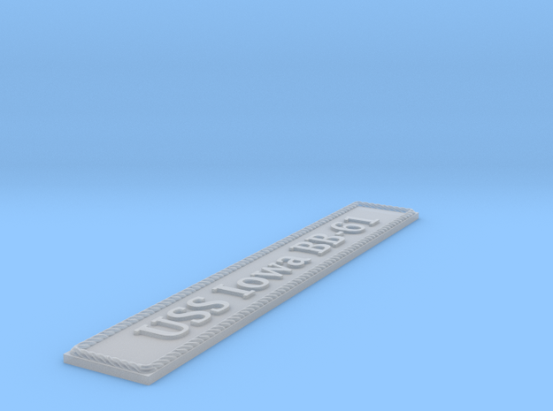 Nameplate USS Iowa BB-61 in Smoothest Fine Detail Plastic