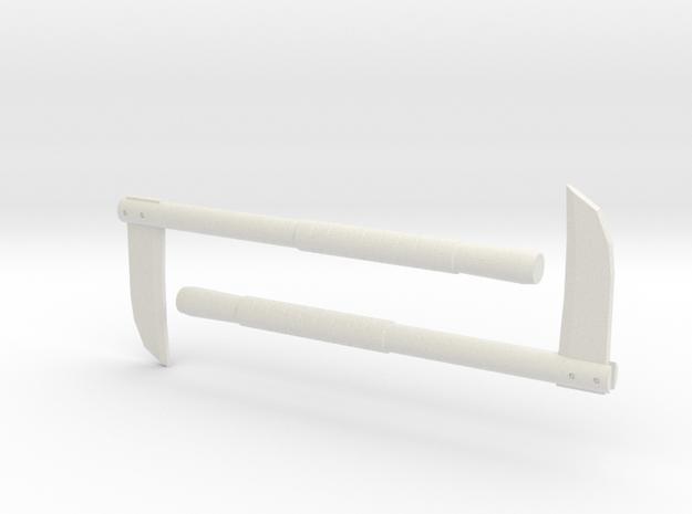 Kama - 1:4 in White Natural Versatile Plastic