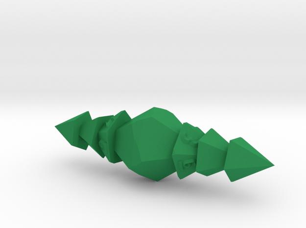 Eldritch d10 in Green Processed Versatile Plastic