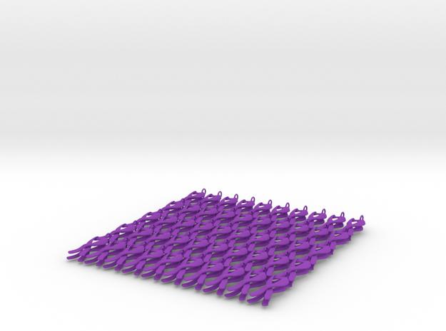 ribbon3-100x in Purple Processed Versatile Plastic